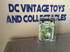 Vintage 1978 Kenner Star Wars Greedo 20 back G Unpunched AFA 80/85/90