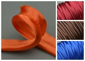 5mm Silky Satin Piping Cord Insertion Flange Upholstery Soft Furnishing
