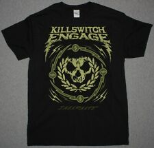 KILLSWITCH ENGAGE SKULL WREATH BLACK T SHIRT