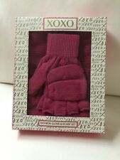NIB XOXO Fashion Glove & Scarf Set.. Fuchsia