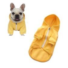 Pet Clothes Dog Zipper Hoodies Warm Soft Cotton Sweatshirt French Bulldog Pug
