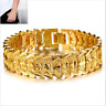 Chunky Link Chain Bracelet For Men 18K Gold Plated Cuff Bangle Wristband Jewelry