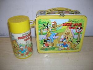 "VINTAGE Disney - ""Country Family"" Blech Lunch Box & Kanne - 70er/80er Jahre"