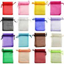 30/100PCS Organza Jewellery Packing Pouches Wedding Party Favour Candy Gift Bags