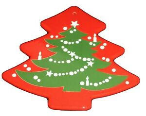 WAECHTERSBACH Red Green Christmas Tree Trivet Hot Plate Hanging 10""