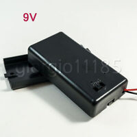 US Stock 5x 9V PP3 Battery Holder Box DC Case With Wire Lead ON/OFF Switch Cover