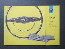 Lancia  Appia Coupe / G.T.E. / Convertible / Brochure  c.a.1959