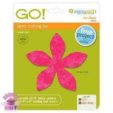 55334- Accuquilt GO! Baby Fabric Cutter Fun Flower Quilting Applique Block Die