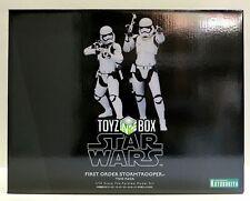 "In STOCK Kotobukiya ""First Order Stormtrooper 2 Pk"" TFA Artfx+ Star Wars Statue"