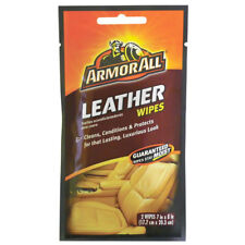 Armor All Leather Wipes Cleans, Conditions & Protects, 2 Wipes