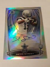 2014 Bowman Chrome Devin Street rookie Auto refractor Dallas Cowboys autograph