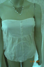 VILA BAMBOO WHITE PULL ON CORSGE/BASQUE SIZE MED 12/14 CLEARANCE