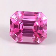 11.40 Ct Natural Transparent Pink Ceylon Sapphire Radiant Cut Loose Gemstone