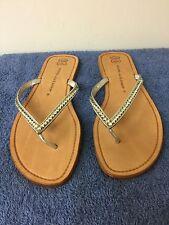 Athena Alexander Women Genuine leather soles Flip Flops -hand made- 9M