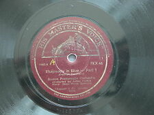 78 rpm RHAPSODY IN BLUE GERSCHWIN Arthur Fieder FKX 46 Boston Orchestra