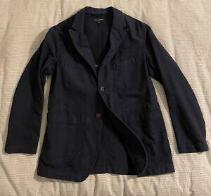 Engineered Garments Bedford Jacket Navy Heavyweight Cotton Medium