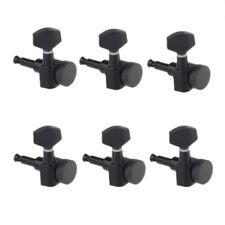 Guitar Locking Tuners Tuning Pegs 6-in line Right Hand Black Strat Headstock