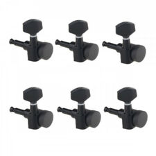 Guitar Locking Tuners 6 in line Right Hand Black for Strat style headstock