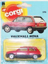 Corgi Juniors 1983 RED Vauxhall Nova 170 Picture card