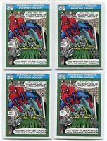 (4) 1990 Marvel Universe SERIES 1 Spider-man Presents Doctor Doom #150 CARD PSA