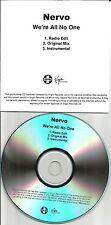 NERVO We're all no One 3TRX RADIO EDIT & ORIGINAL & INSTRUMENTAL PROMO CD Single