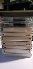 Lot de 10 CASSETTES K7 AUDIO TAPE 90' TDK SONY AGFA MAXELL TYPE I  USED ONCE