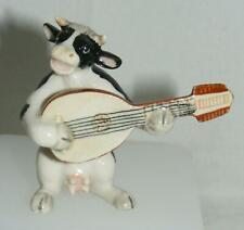 Klima Miniature Porcelain Animal Musician Cow with Lute K676