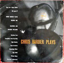 "CHRIS BARBER PLAYS*10""VINYL*8 TRACKS*PYE NJT 500*1955* VERY GOOD CONDITION"