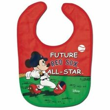 Boston Red Sox Baby Bib Disney Mickey Mouse Feeding Infant MLB Baseball Fan
