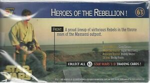 Star Wars A New Hope 3Di Widevision - Complete Base Set of 63 Cards - Topps 1996