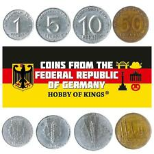 SET 4 COINS FROM EAST GERMANY. 1, 5, 10, 50 PFENNIG. SOCIALISM MONEY. 1948-1950