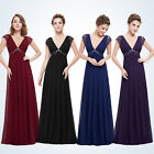 Ever-Pretty Long Bridesmaid Dress V-neck Prom Maxi Evening Formal Party Dress