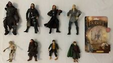 Lord Of The Rings Lotr Frodo, Glum, Goblin Action Toy Figures Lot Of 9.