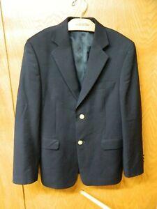 Lord & Taylor Boy's Sportcoat Blazer Jacket 16r Navy Blue Wool & Poly NWOT N#116