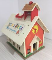 1970s Vintage Fisher Price Play Family School House.