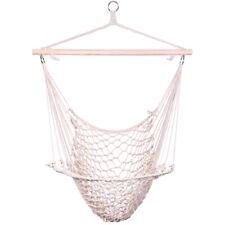 Cotton Hanging Rope Air/Sky Chair Swing beige Hammocks