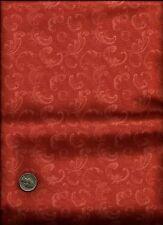 """Belles Fleurs Sur Noir"" Paisley Print peachy rose Fabric by Connecting Threads"