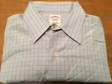 Brooks Brothers Plaid Dress Shirt Polo Shirt 100% Cotton Made In USA SZ 16 32