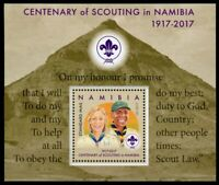 Namibia 2017 MNH Centenary of Scouting 1v M/S Girl Boy Scouts Stamps