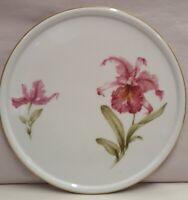 Vintage Furstenburg Germany Orchid Pattern Porcelain Trivet c1952-66 15cm