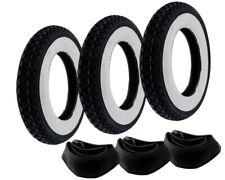 3x Weißwand Reifen Schlauch Set Kenda 3.50-10 Zoll für Vespa PX 125 150 200 Ape