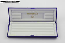 Waterman Plastic Etui / Case / Box in Blue-White for up to 3 Pens