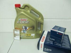 BOSCH Ölfilter, Luftfilter und 5Ltr. CASTROL 5W30 Motoröl Opel Astra J