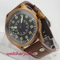 43mm Sterile dial Bronze Plated Case 6497 Handaufzug Mechanisch Uhr men's Watch