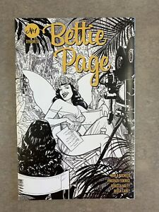 Bettie Page #1 1:10 Kano B&W Variant Cover Dynamite 2020 Volume 3