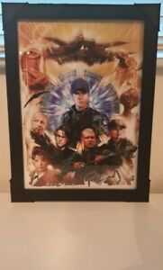 Stargate Sg1 A3 framed artprint drawn by jason fletcher high quality black frame