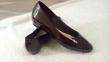 """Footglove ladies sz 5.5 shoes 1"""" wedge sole patent mulberry worn once cst £39.50"""