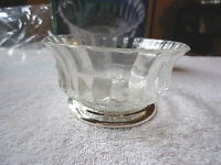 "Vintage Genuine Crystal & Silverplate Pedestal Bowl "" BEAUTIFUL COLLECTABLE ITEM"