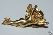 WOW Nice Vintage Golden ANGEL Child Girl Wings Religious Church Lapel Pin Rare
