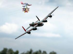 sent2u! rare AVRO LANCASTER BOMBER electric RC Model Plane WW2 RAF Warbird